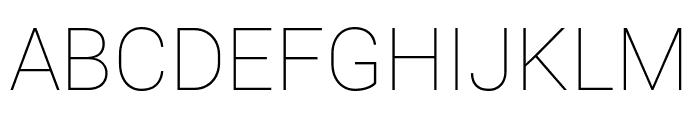 Roboto Mono Thin Font UPPERCASE