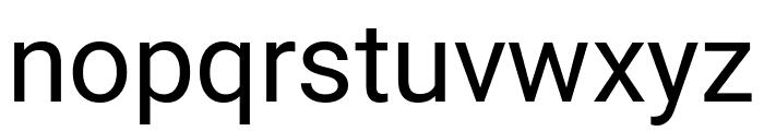 Roboto Regular Font LOWERCASE
