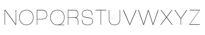 Roc Grotesk Compressed Thin Font UPPERCASE