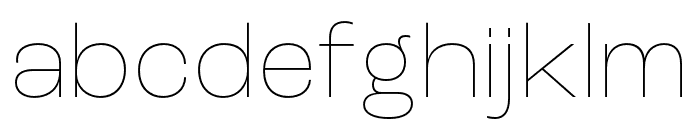 Roc Grotesk Compressed Thin Font LOWERCASE