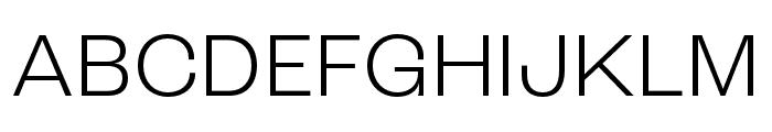 Roc Grotesk Condensed Light Font UPPERCASE