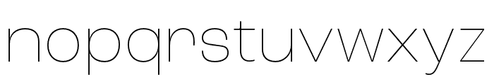 Roc Grotesk Condensed Thin Font LOWERCASE