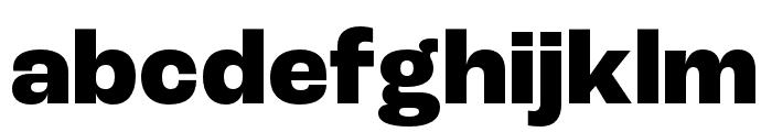 Roc Grotesk ExtraWide ExtraBold Font LOWERCASE