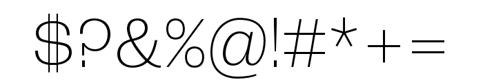 Roc Grotesk ExtraWide ExtraLight Font OTHER CHARS