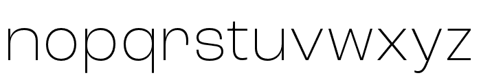 Roc Grotesk Wide ExtraLight Font LOWERCASE