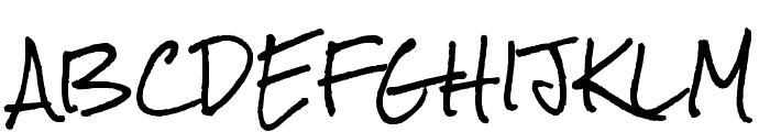 Rock Salt Pro Regular Font UPPERCASE