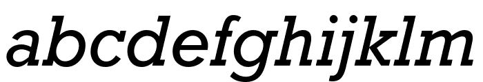 Rockwell Nova Condensed Italic Font LOWERCASE