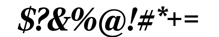 RockyComp BlackItalic Font OTHER CHARS
