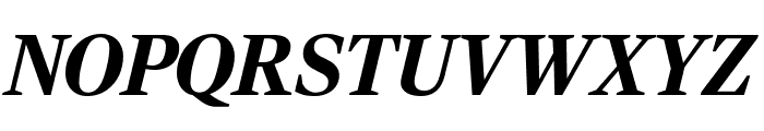 RockyCond BlackItalic Font UPPERCASE