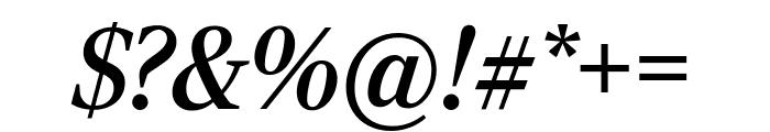 RockyCond MediumItalic Font OTHER CHARS