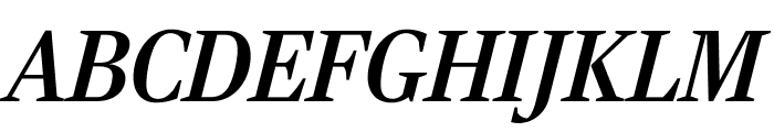 RockyCond MediumItalic Font UPPERCASE