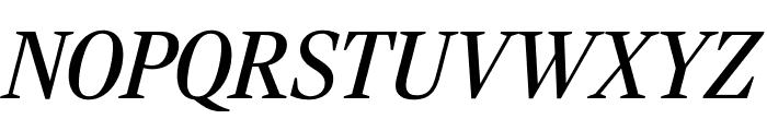 RockyCond RegularItalic Font UPPERCASE