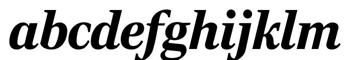 RockyExtraCond BlackItalic Font LOWERCASE