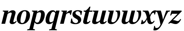 RockyExtraCond BoldItalic Font LOWERCASE