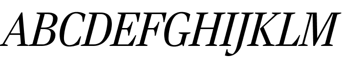 RockyExtraCond LightItalic Font UPPERCASE