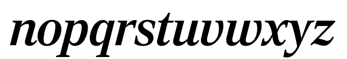 RockyExtraCond MediumItalic Font LOWERCASE