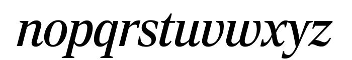 RockyExtraCond RegularItalic Font LOWERCASE