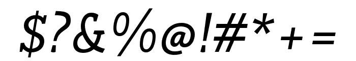 Rogliano Regular Italic Font OTHER CHARS