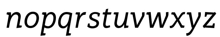 Rogliano Regular Italic Font LOWERCASE