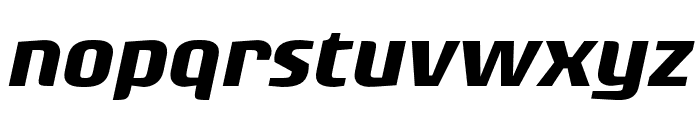 Rogue Sans Cond Bold It Font LOWERCASE