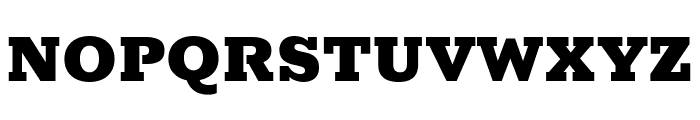 Rokkitt Black Font UPPERCASE