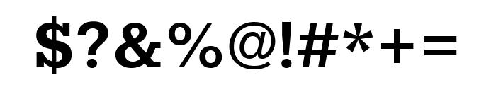 Rokkitt Bold Font OTHER CHARS