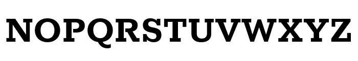 Rokkitt Bold Font UPPERCASE