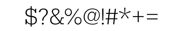 Rokkitt ExtraLight Font OTHER CHARS