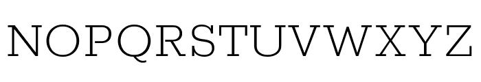 Rokkitt ExtraLight Font UPPERCASE