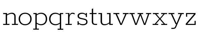 Rokkitt ExtraLight Font LOWERCASE