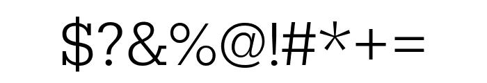 Rokkitt Light Font OTHER CHARS