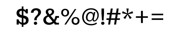Rokkitt Medium Font OTHER CHARS
