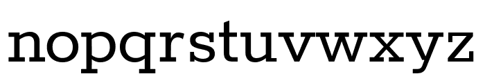 Rokkitt Regular Font LOWERCASE