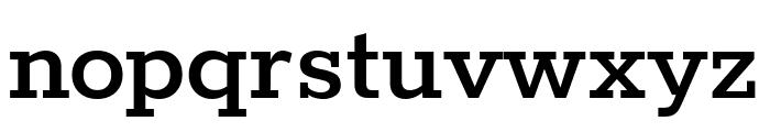 Rokkitt SemiBold Font LOWERCASE