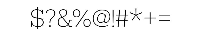 Rokkitt Thin Font OTHER CHARS