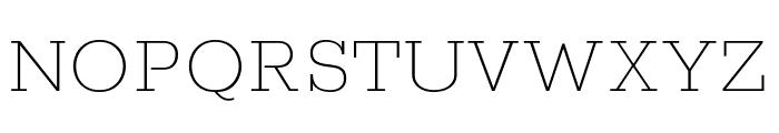 Rokkitt Thin Font UPPERCASE