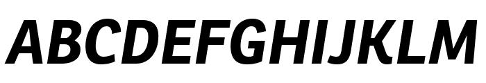 Ronnia Bold Italic Font UPPERCASE