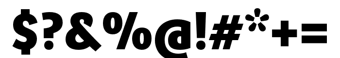 Ronnia Condensed ExtraBold Font OTHER CHARS