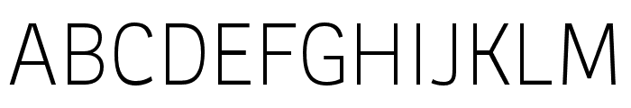 Ronnia Condensed Light Italic Font UPPERCASE