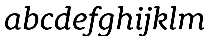 Rooney Regular Italic Font LOWERCASE