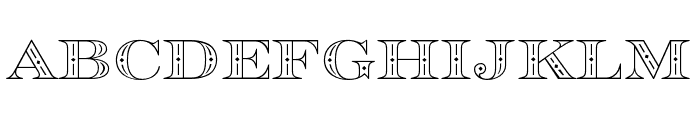 Rosella Hatched Font UPPERCASE