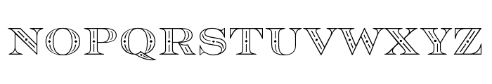 Rosella Inline Font UPPERCASE