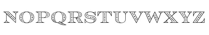 Rosella Inline Font LOWERCASE