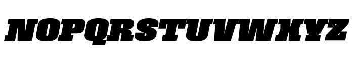 Roster Black Italic Font UPPERCASE
