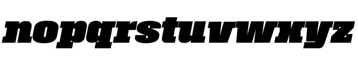 Roster Black Italic Font LOWERCASE
