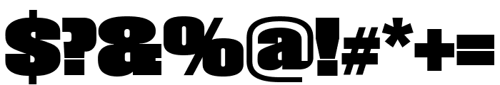 Roster Compressed Black Font OTHER CHARS