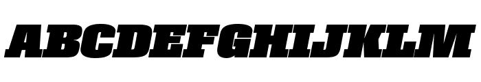Roster Condensed Black Italic Font UPPERCASE
