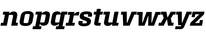 Roster Condensed Semibold Italic Font LOWERCASE
