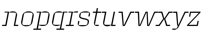 Roster Expanded Extra Light Italic Font LOWERCASE