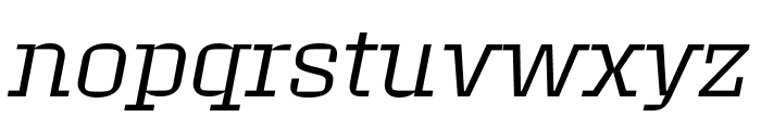 Roster Expanded Light Italic Font LOWERCASE